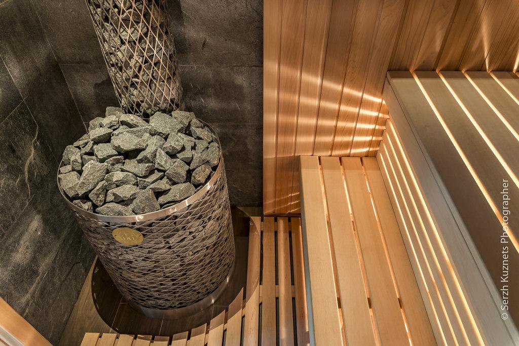 Фото сауна из красного канадского кедра